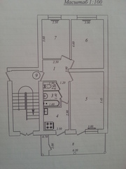 Продам 3-х комнатную квартиру в районе Фархадского рынка