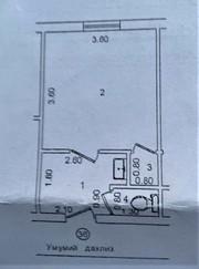 1-комнатная квартира в Миробадском районе. Галерейка