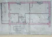 Академгородок 3 комнаная,  общая 60 кв.м. 4/4 эт. торец,  35000